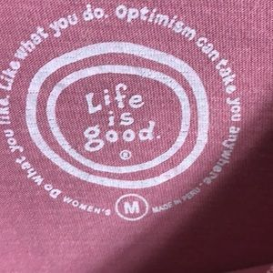 Life Is Good Tops - Life Is Good T-shirt Food For Thought Sz M